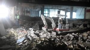 Demolición con ayuda mecánica