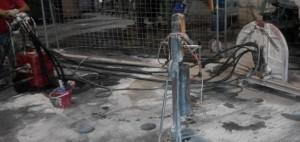 Perforación con broca de diamante en losa de hormigón